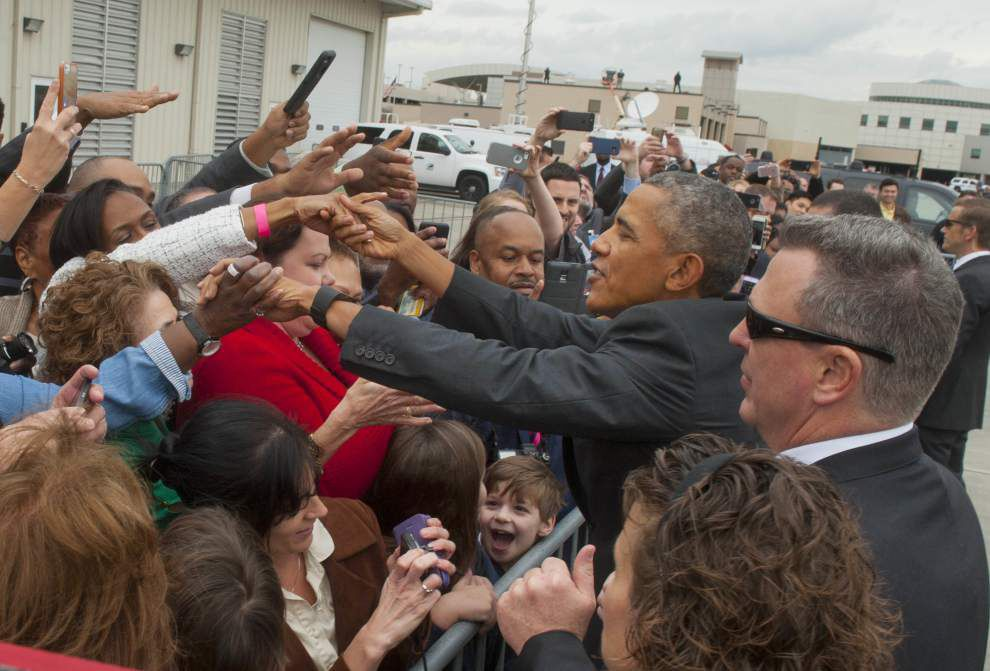Obama entertains playful Baton Rouge crowd of 1,000 at McKinley -- then stops at Poor Boy Lloyd's _lowres