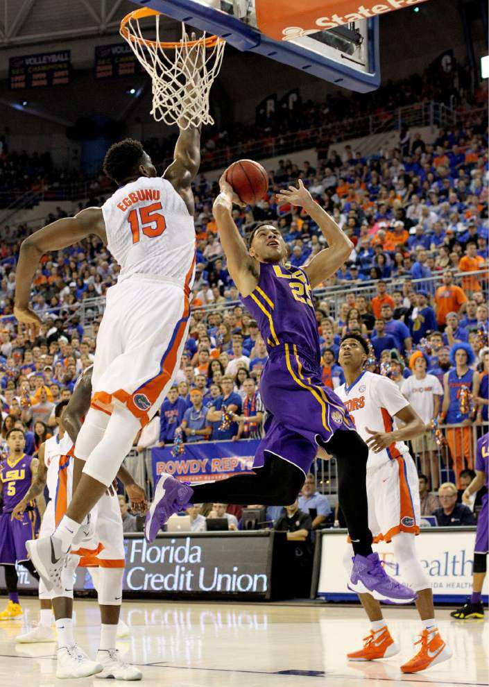 3-0 start in SEC play eludes the LSU men's basketball team after a 68-62 loss at Florida _lowres
