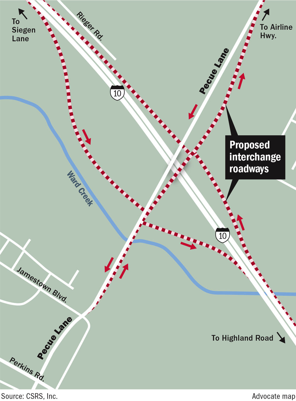 Governor, mayor launch new phase of Pecue Lane/I-10 overhaul ... on interstate 8 map, interstate 80 map, interstate 81 map, interstate 20 map, i-10 map, interstate 421 map, interstate 27 map, interstate 75 map, highway 82 map, texas map, interstate 422 map, interstate 70 map, i-70 colorado road map, interstate 25 map, interstate 5 map, interstate 4 map, lincoln way map, interstate i-10,