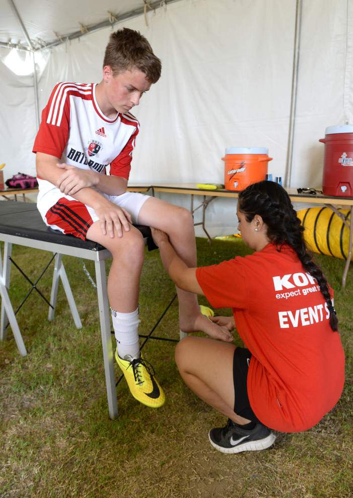 On-site medical staff works around the clock at regional soccer championships _lowres