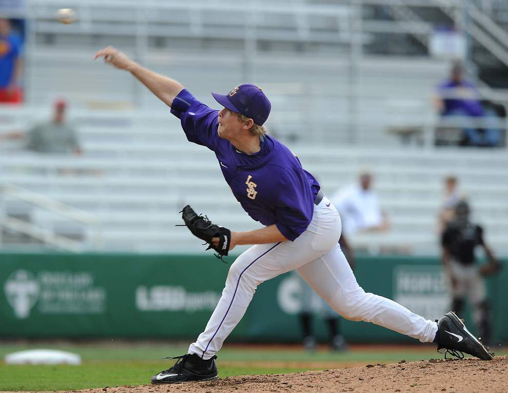 LSU freshman pitcher Austin Bain gets chance to make his mark at Arkansas _lowres