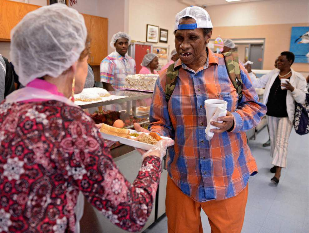 Baton Rouge residents find hope, fellowship, consolation — and sustenance — at the Society of St. Vincent de Paul's Easter Sunday luncheon _lowres