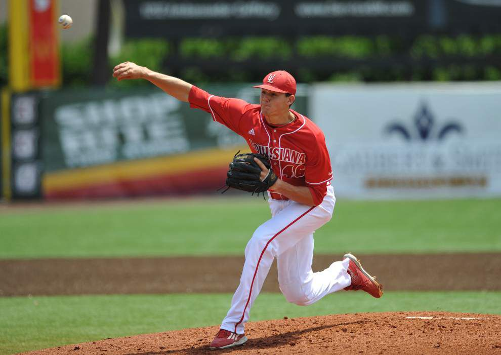 Dylan Moore slams the door shut as Cajuns win rubber match 1-0 over Texas State _lowres