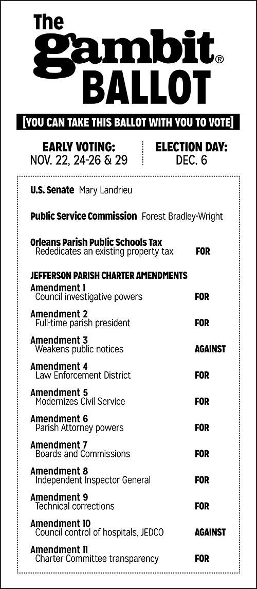 Early voting begins Sat. Nov. 22: Our recommendations in the races_lowres