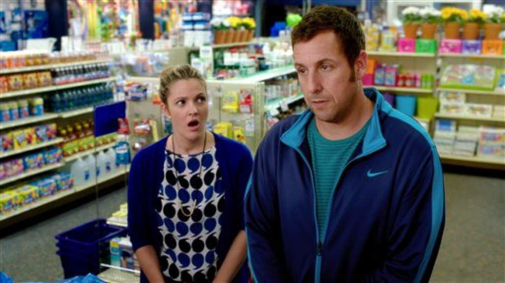 Review: Barrymore can't save Sandler's 'Blended' _lowres