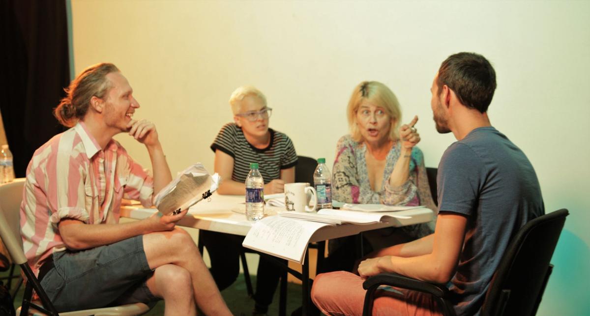 Ben Matheny, Susan Gordon, Linda Hamilton, Will Addison rehearsal.jpg