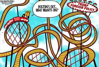 Walt Handelsman: Bolton's Out... Who's Next?
