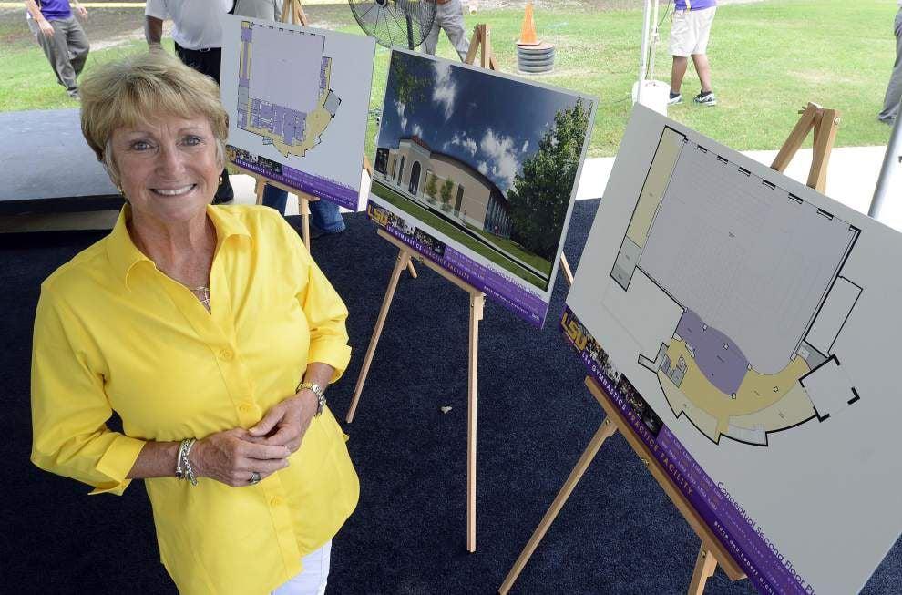 LSU breaks ground on gymnastics practice facility _lowres