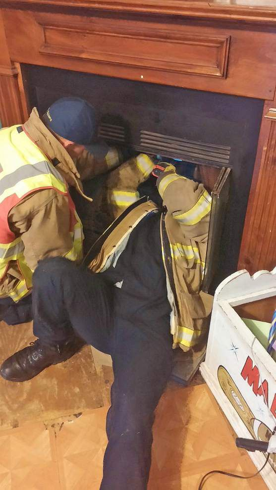 Web-footed houseguests freed from St. Tammany chimney flue _lowres