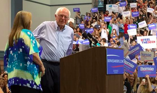 Bernie Sanders fires up New Orleans-area crowd at Pontchartrain Center_lowres