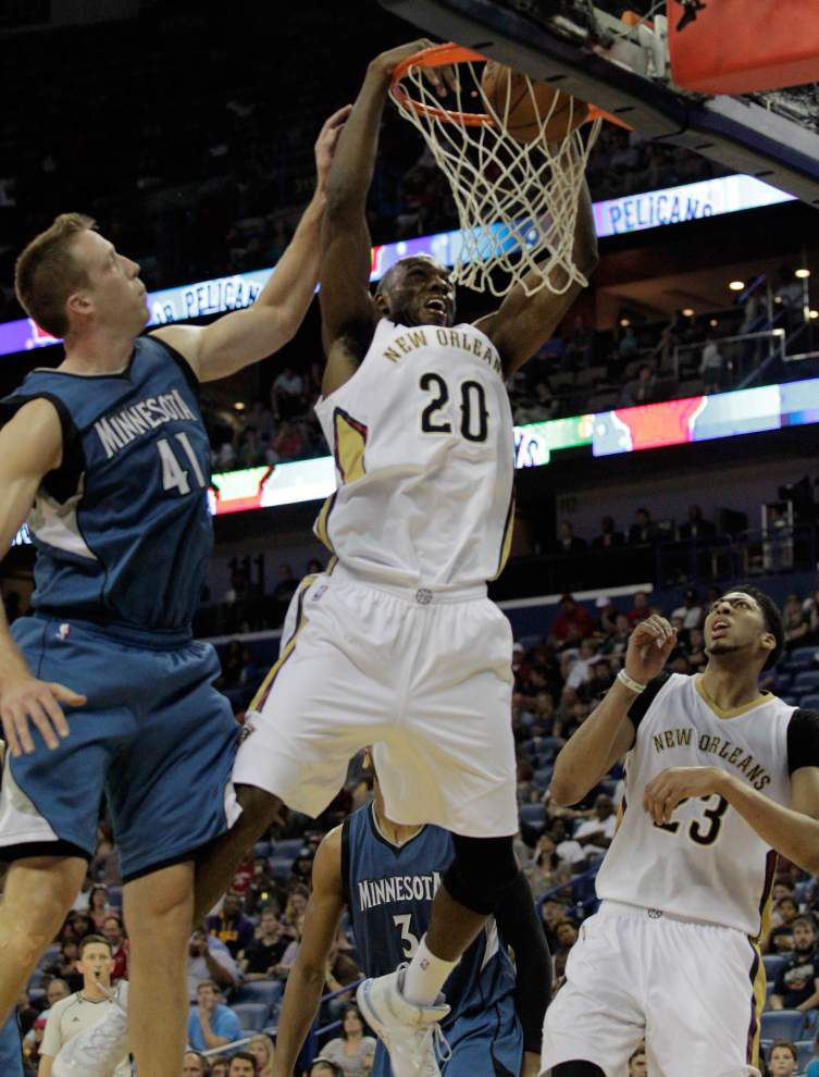 Pelicans forward Quincy Pondexter practices Tuesday for first time this season _lowres