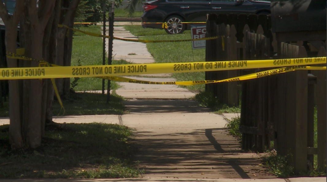 Cameron Boulevard crime tape