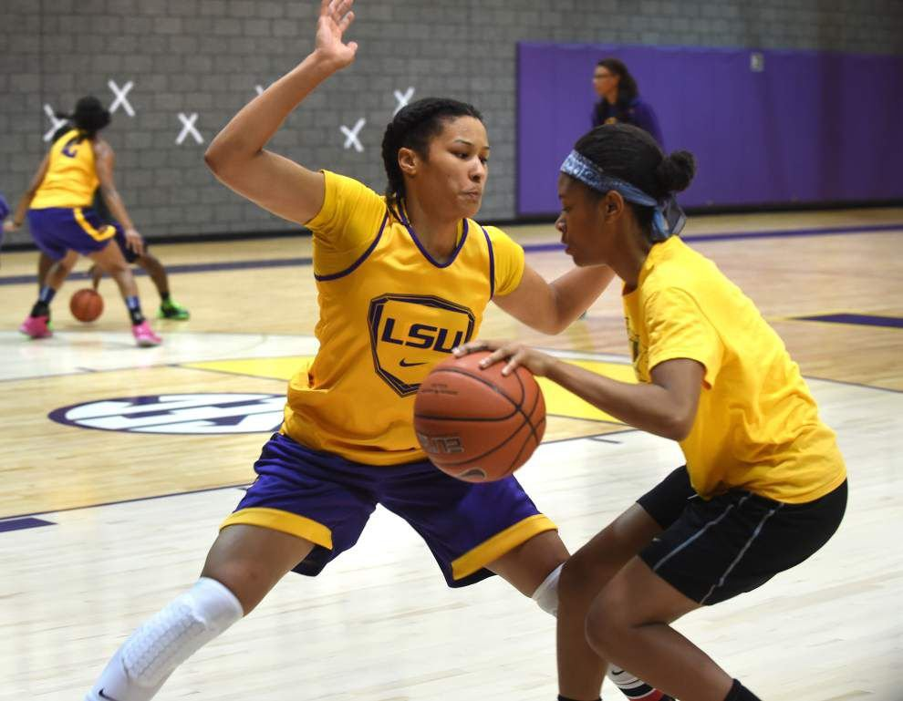 Lady Tigers practice pleasantly crowded _lowres
