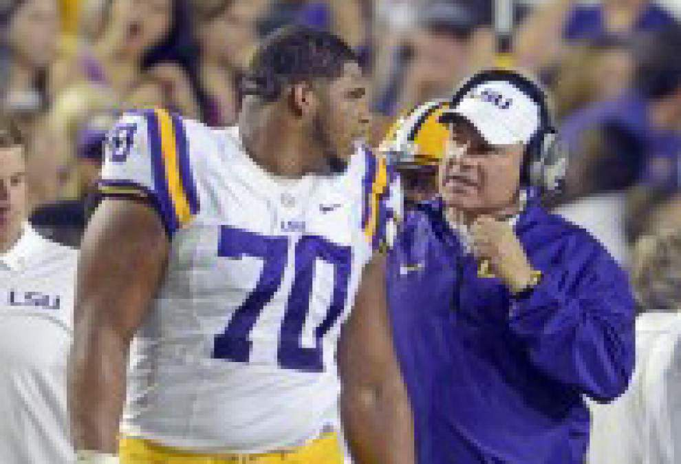 Les Miles breaks silence on La'el Collins: 'This is a guy who deserves to get paid his market value' _lowres