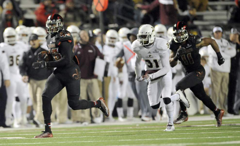 Cajuns running back Alonzo Harris hits 3,000-yard mark in return _lowres