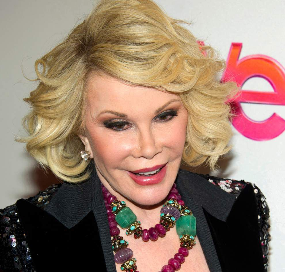 Comedian Joan Rivers remains hospitalized in New York City _lowres