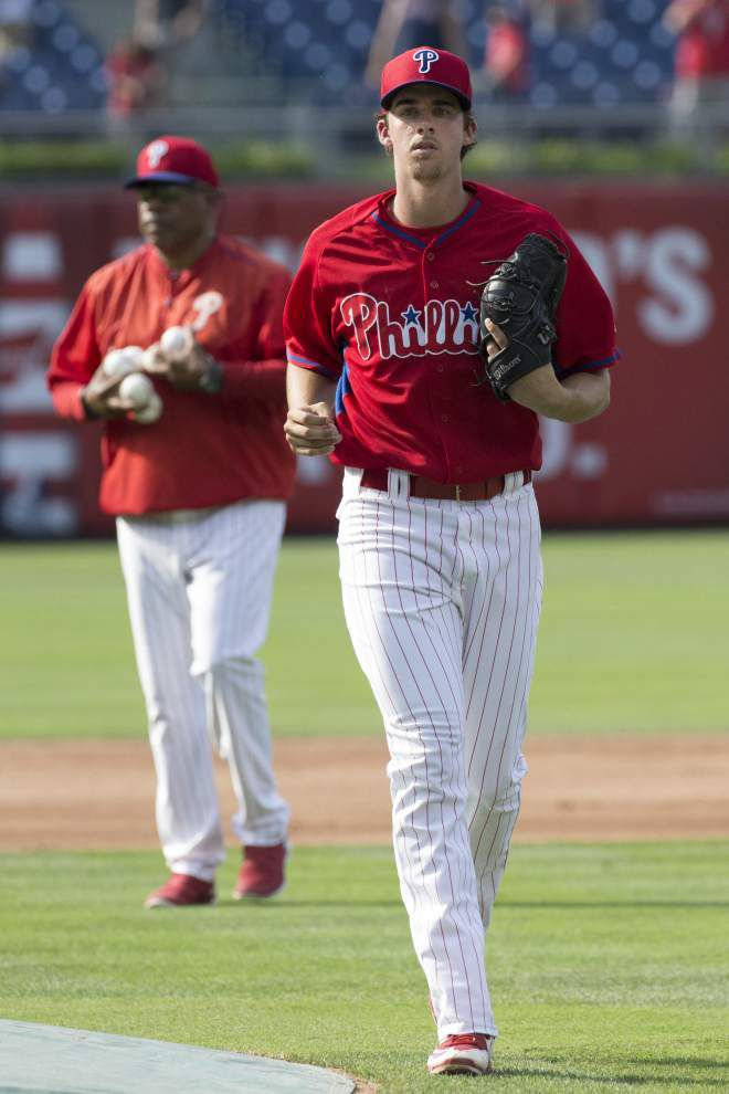 Photos: Ex-LSU, Catholic High ace Aaron Nola steps out with the Philadelphia Phillies _lowres