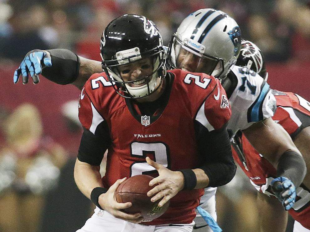 Panthers clinch NFL South, edge past Falcons 21-20 _lowres