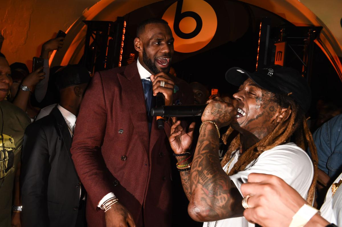 LeBron James Lil Wayne Beats NBA party 14.JPG