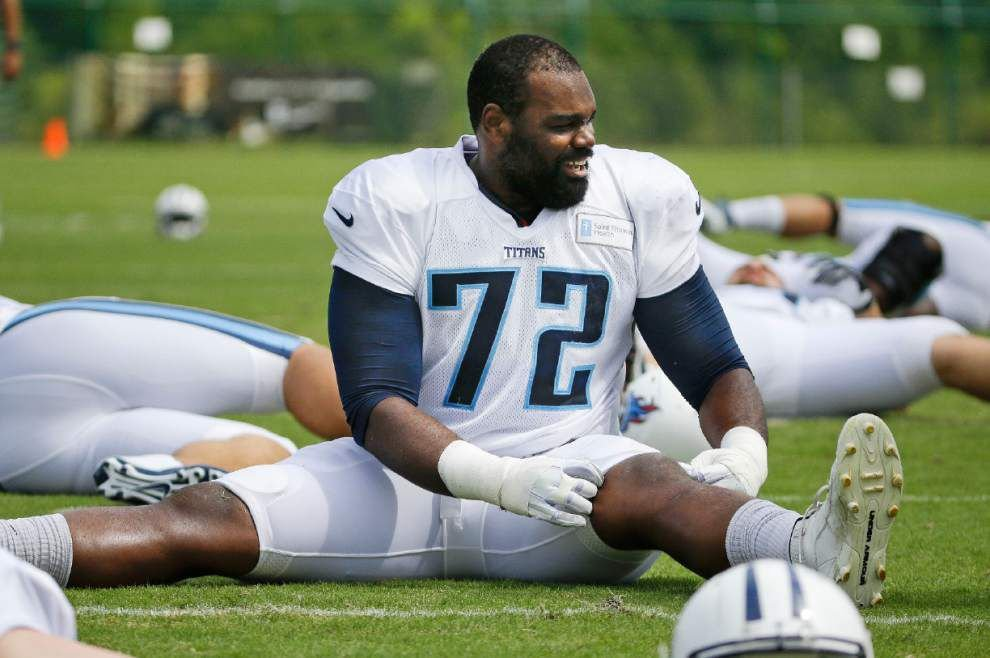 Titans' Michael Oher motivated for matchup with Saints _lowres