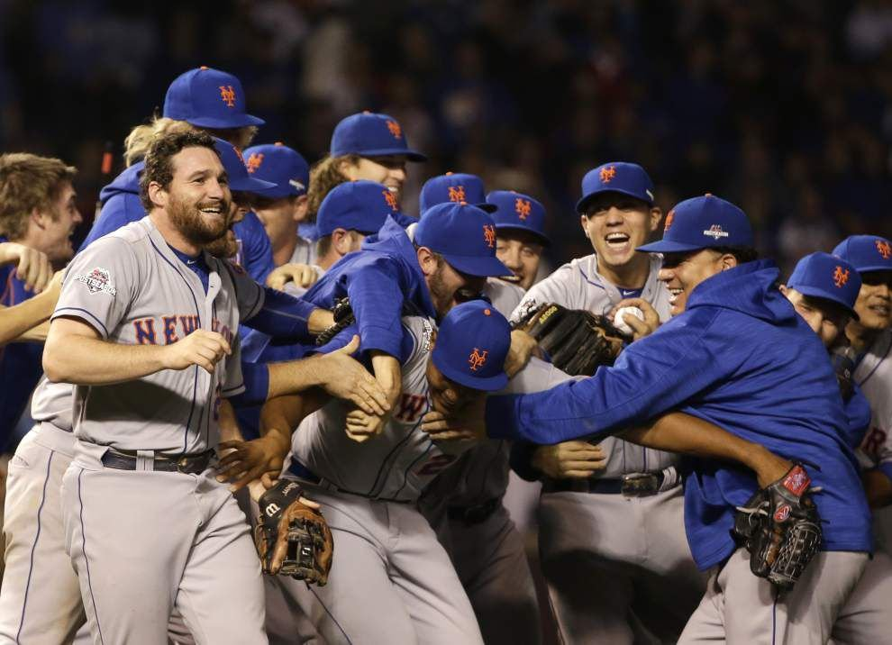 Daniel Murphy and the Amazin' Mets sweep the Cubs, clinch a spot in the World Series _lowres