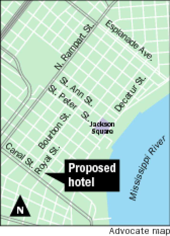 City planners oppose request for 268-foot Royal Street hotel; decision is up to City Council _lowres