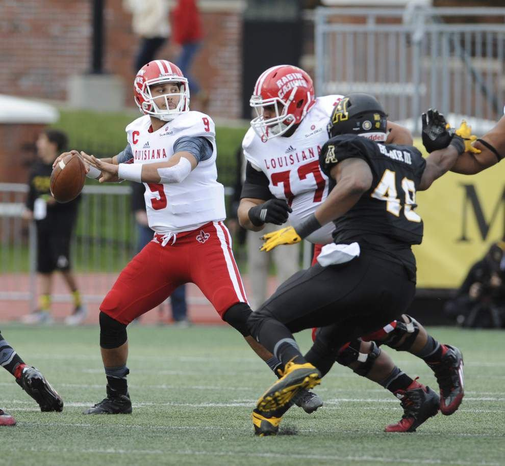 Appalachian State controls Cajuns 28-7, ending UL-Lafayette's bowl hopes _lowres