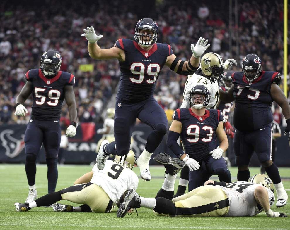 Nick Underhill's analysis: Inside look at how Texans' J.J. Watt wreaked havoc on Saints' offense _lowres