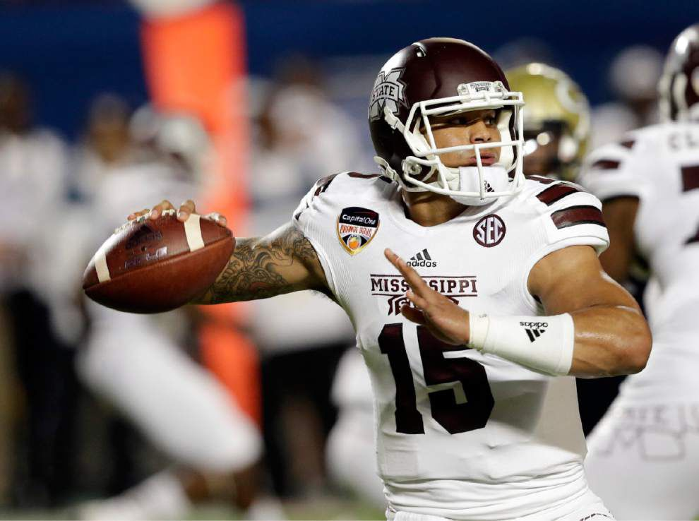 Mississippi State's Dak Prescott says last season's late struggles have Bulldogs motivated 'to be stronger and finish even better' _lowres