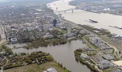 Baton Rouge Downtown Aerial