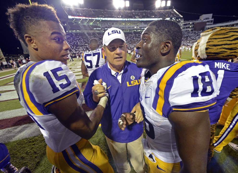 LSU coach Les Miles expects LT Jerald Hawkins to start at Ole Miss; Jim Hawthorne could return to radio booth next week _lowres