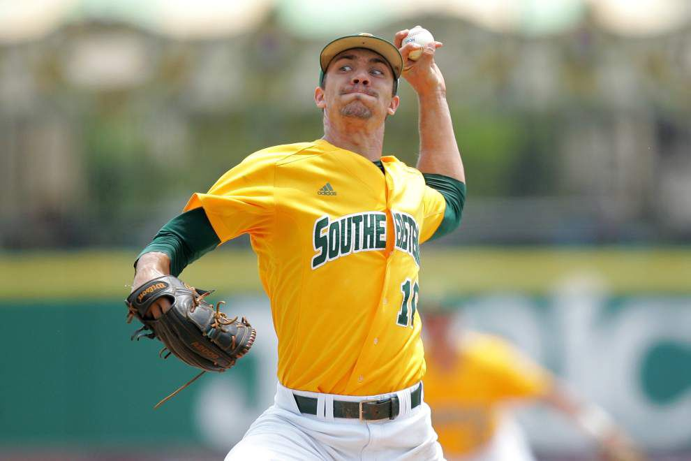Kyle Cedotal is out to turn things around as the Southeastern baseball team opens Southland tournament play Wednesday _lowres