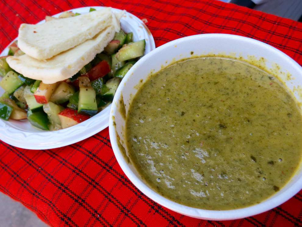 New Orleans Jazz Fest food quick pick: crawfish, spinach and zucchini bisque _lowres