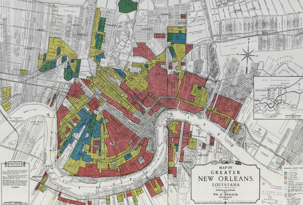 HOLC redline map of New Orleans