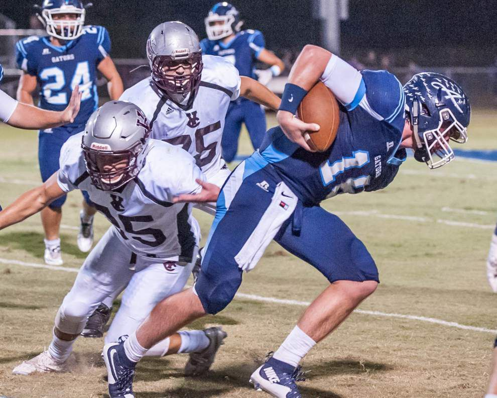 Jake Arceneaux's two-point conversion gives Ascension Episcopal thrilling win over Vermilion Catholic _lowres