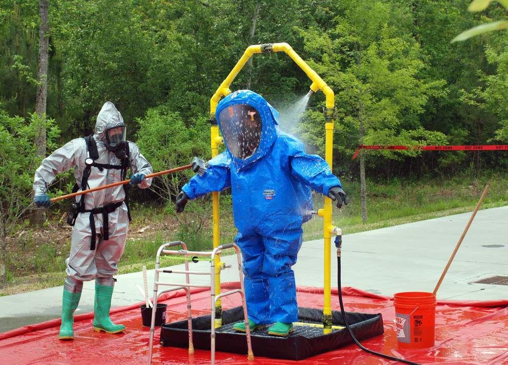 Hazmat drill practices for chlorine leak _lowres