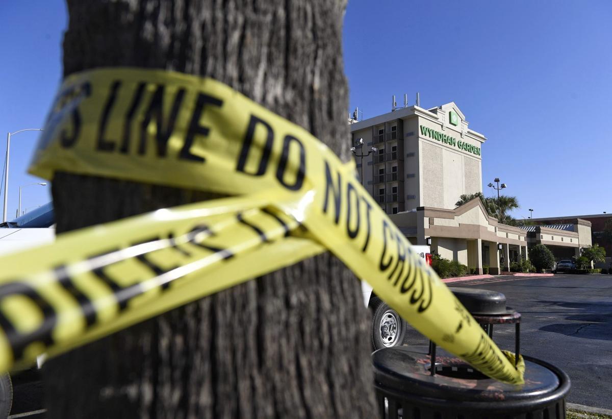 crime scene tape Wyndham Garden hotel