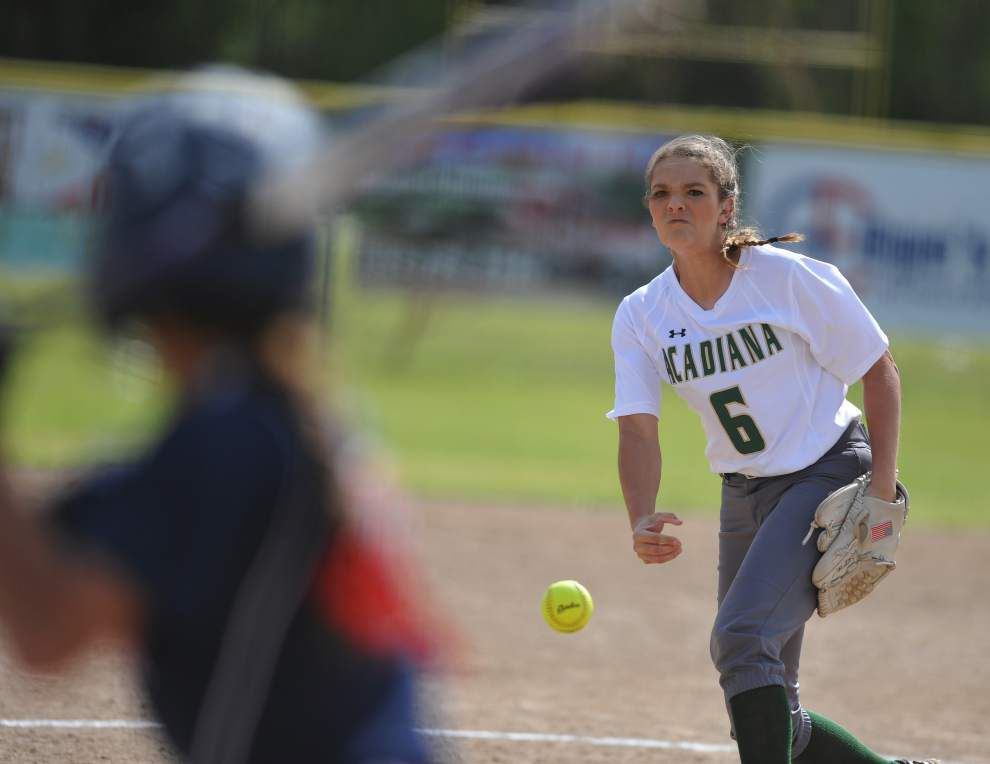 Acadiana pitcher Sydni Larriviere draws upon knowledge of Comeaux players as Rams edge Spartans 7-6 _lowres