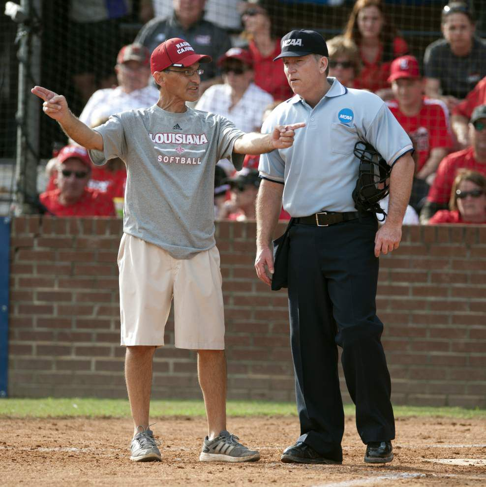Cajuns softball coach Michael Lotief still working to find starting nine _lowres