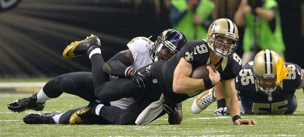 Saints' home skid reaches three games as Ravens prevail 34-27 _lowres