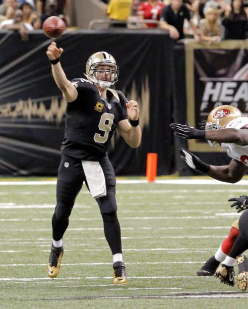 Saints quarterback Drew Brees has a special ability in the pocket _lowres