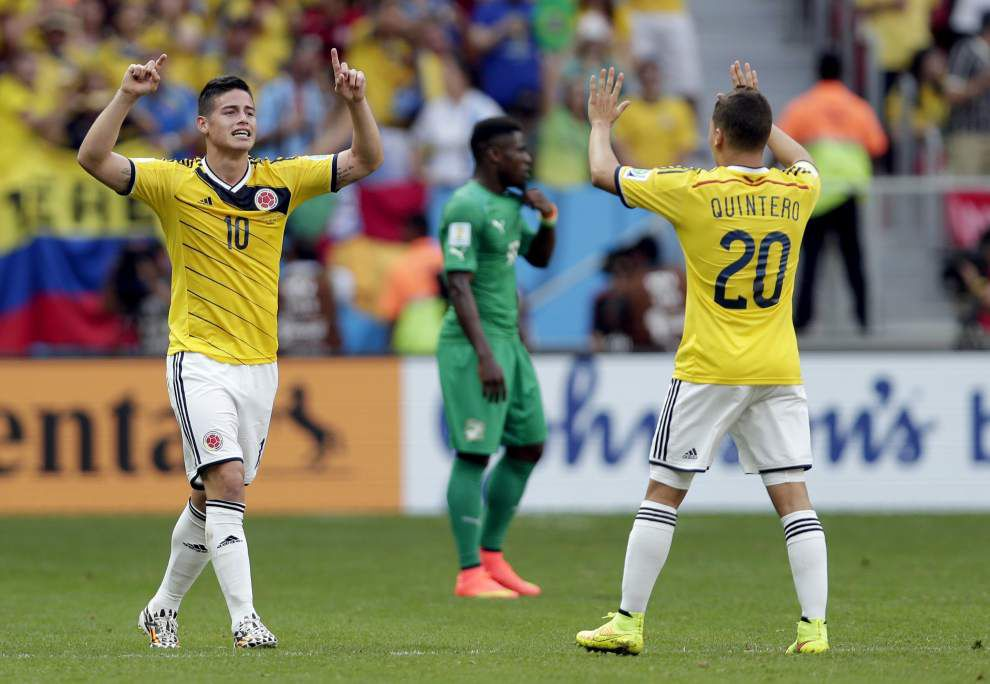 World Cup: Colombia reaches round of 16; Greece, Japan play to tie _lowres