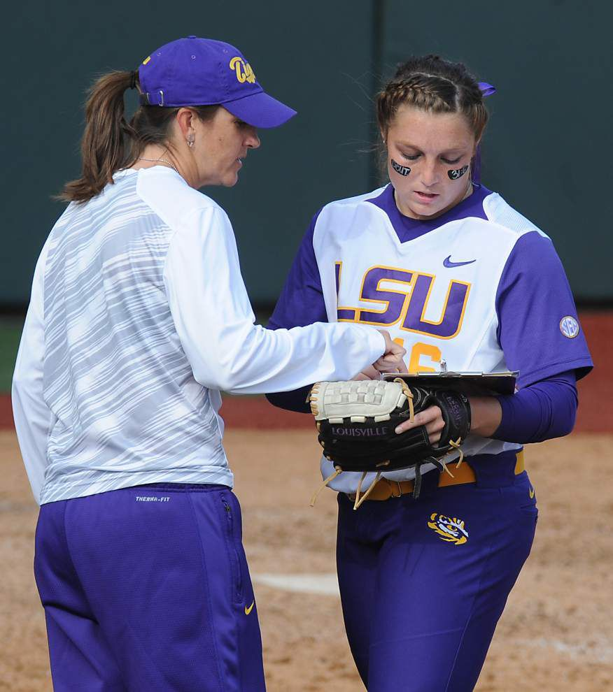 With doubleheader at McNeese up next, LSU softball team's pitching depth makes busy stretch less daunting _lowres