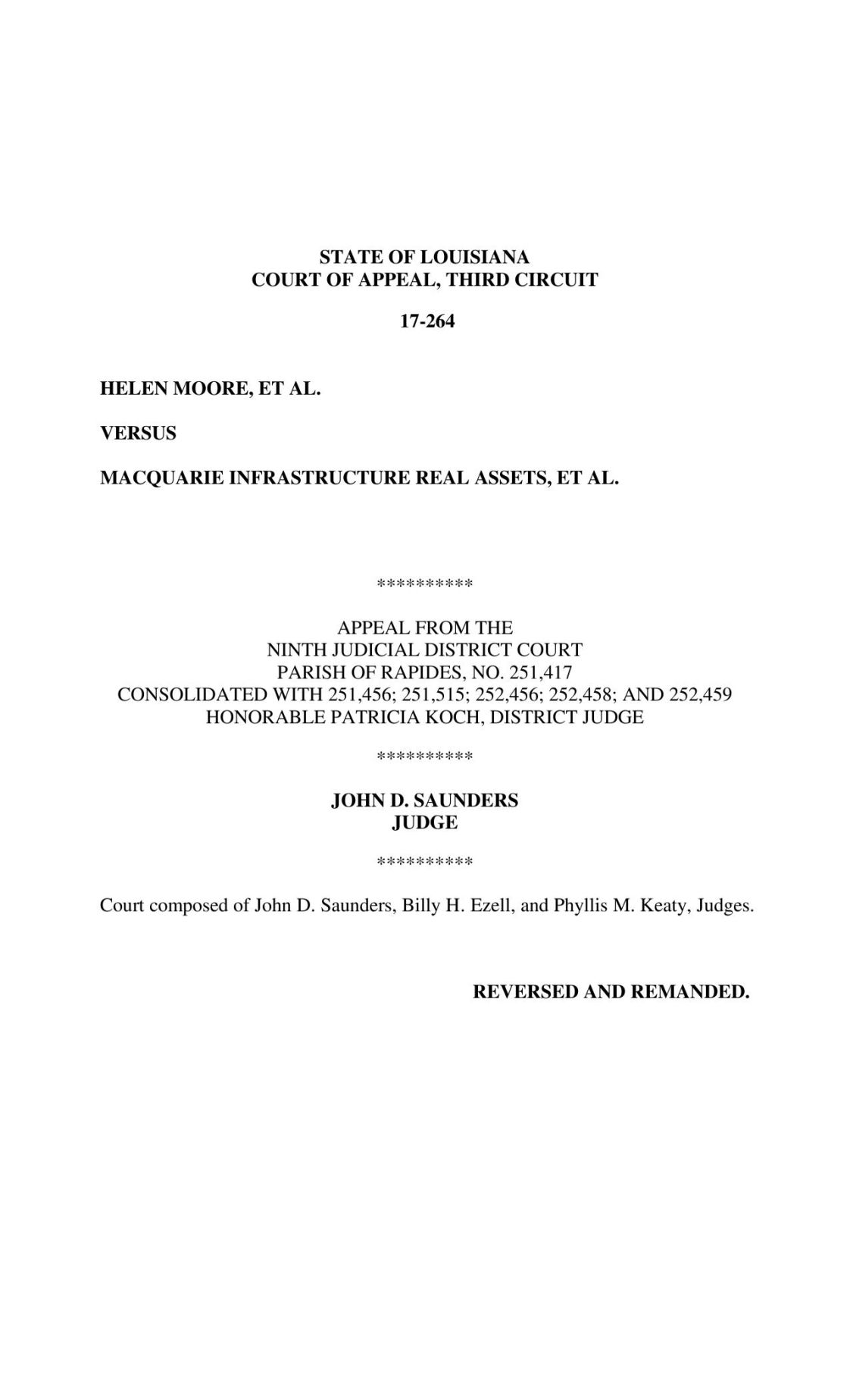 Third Circuit Court of Appeal