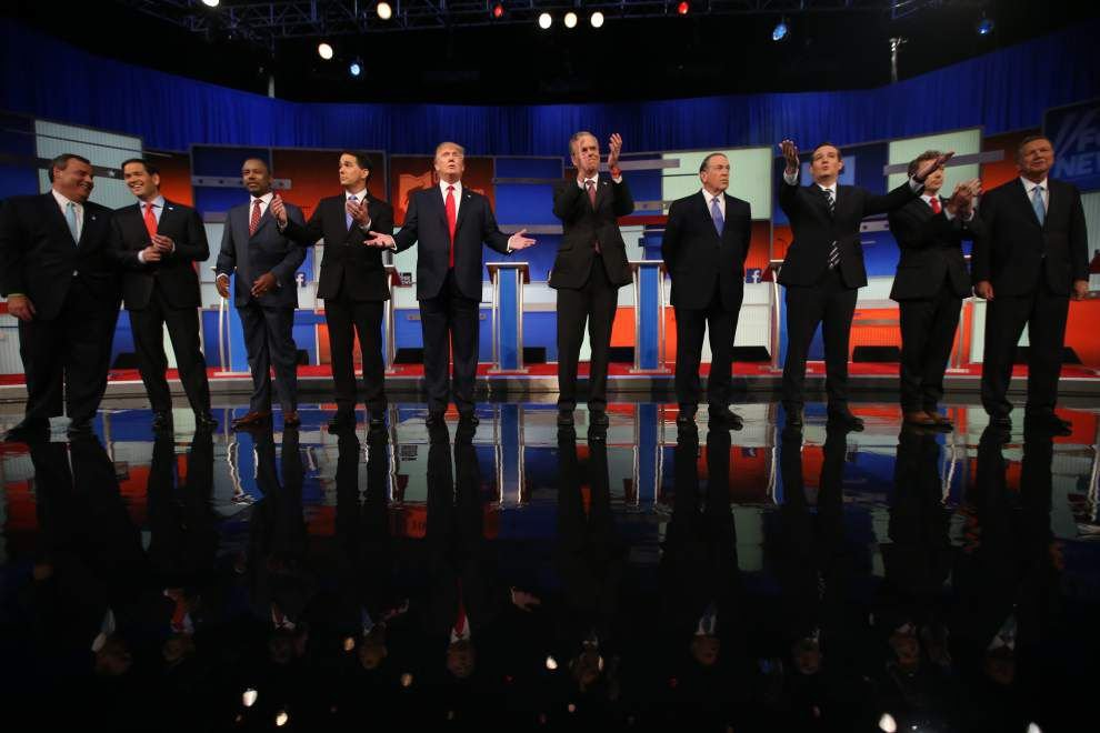 Bobby Jindal sticks to familiar themes in first GOP debate _lowres