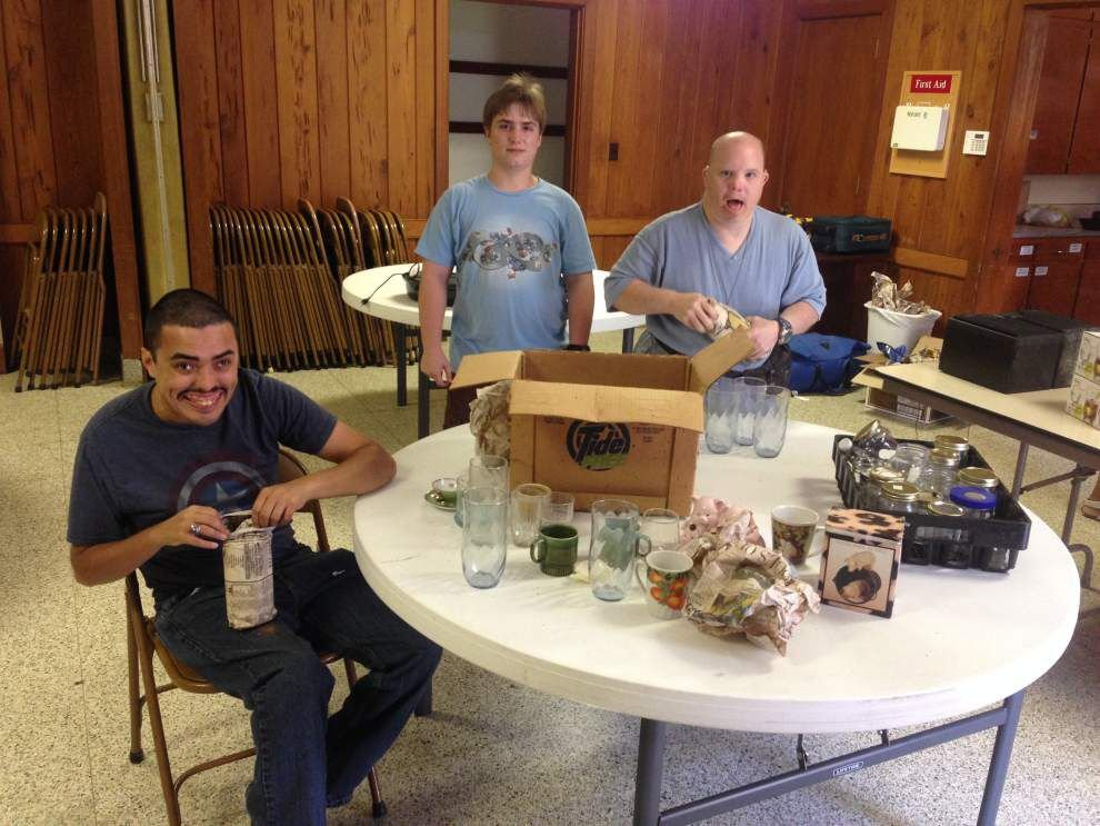 Options participants help with garage sale _lowres