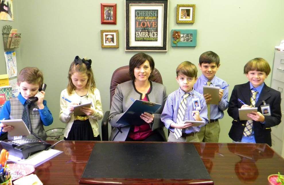 Pupils serve as principals at Bains _lowres