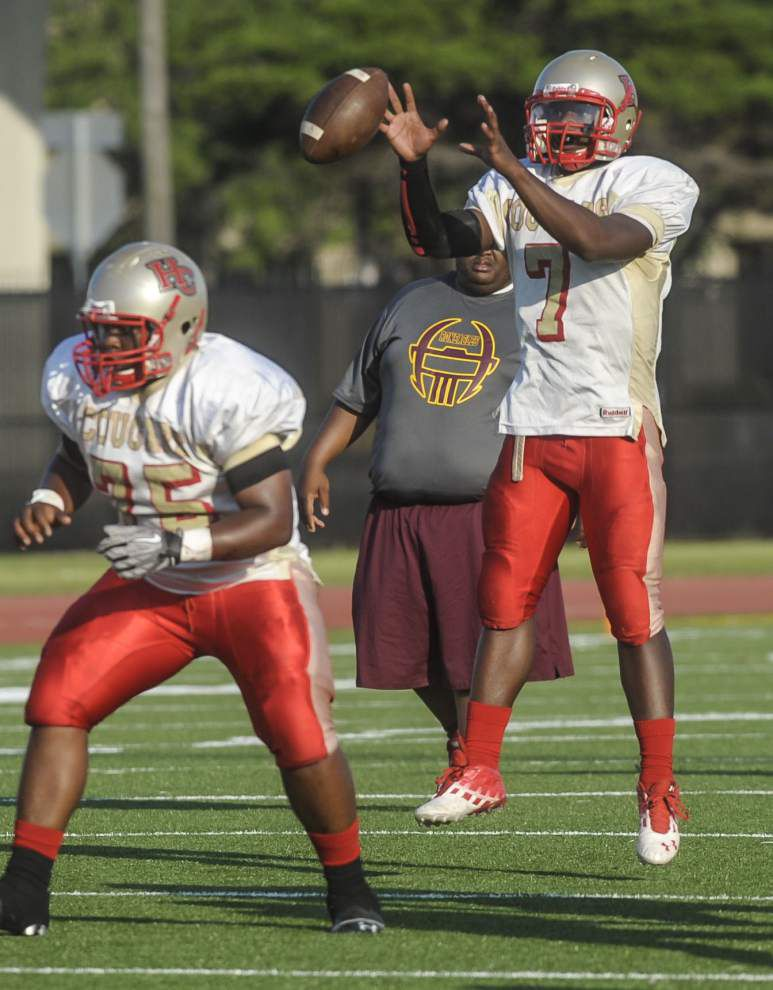 McDonogh 35, Helen Cox coaches view spring game similarly _lowres