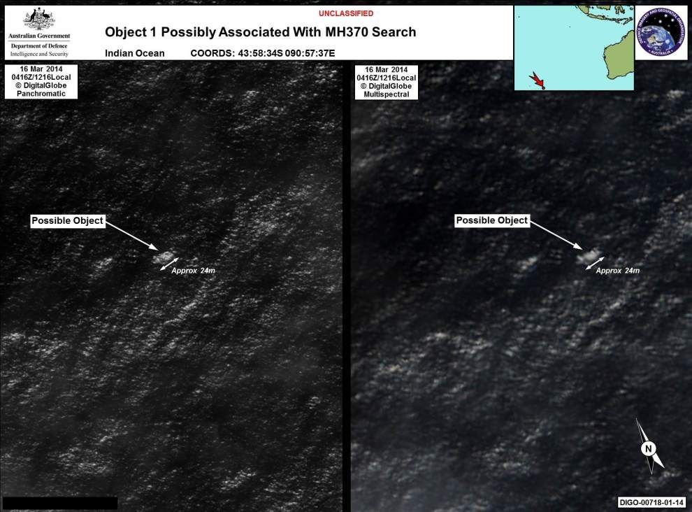 Australia checking 2 objects in search for plane _lowres