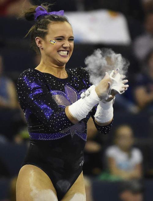 Alabama edges LSU for SEC gymnastics title _lowres